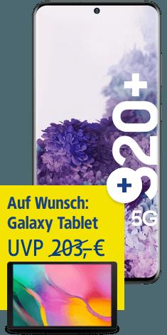Samsung Galaxy S20+ 5G mit Galaxy Tab A 10.1 bei 1&1