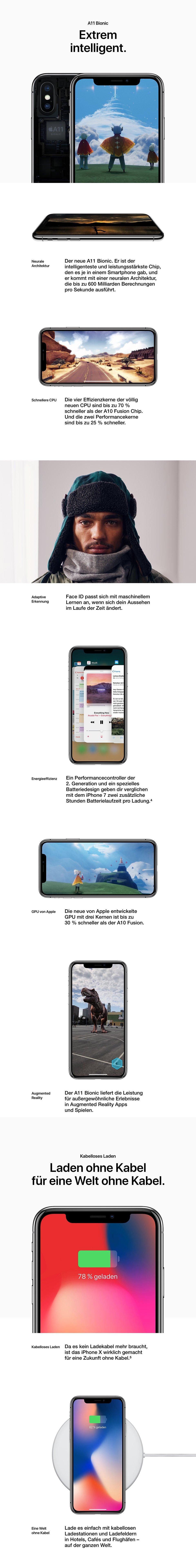 Technische Details Apple iPhone X