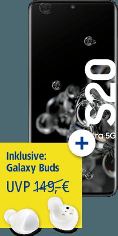 Samsung Galaxy S20 Ultra 5G bei 1&1