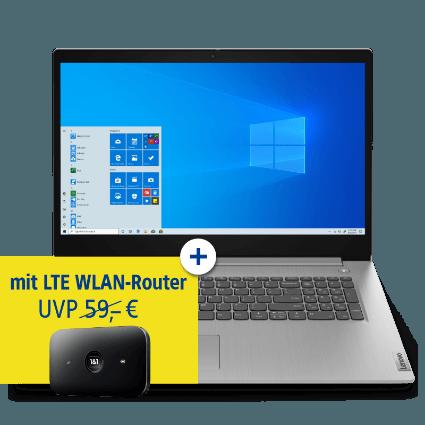 Lenovo IdeaPad 3 + LTE WLAN-Router bei 1&1
