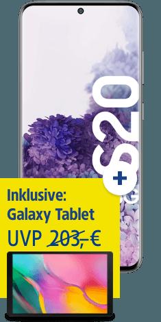 Samsung Galaxy S20 5G mit Galaxy Tab A 10.1 bei 1&1
