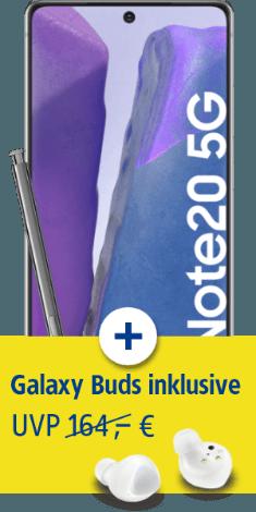 Samsung Galaxy Note20 5G mit Samsung Galaxy Buds+ bei 1&1