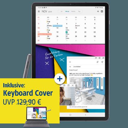 Samsung Galaxy Tab S6 mit Keyboard Cover bei 1&1