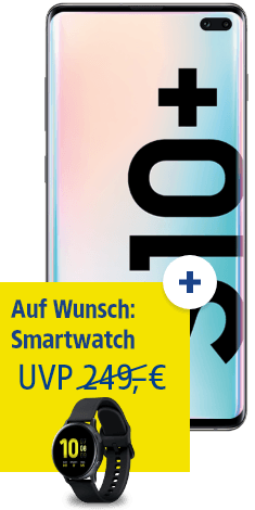 Samsung Galaxy S10+ mit Galaxy Watch Active2 40mm bei 1&1