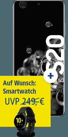 Samsung Galaxy S20 Ultra 5G mit Watch Active 2 bei 1&1