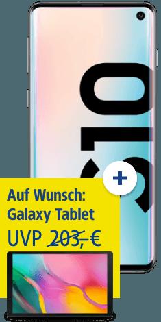 Samsung Galaxy S10 mit Samsung Tab A 10.1 bei 1&1