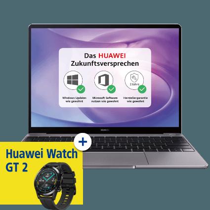 HUAWEI MateBook 13 2020 mit HUAWEI Watch GT2 bei 1&1