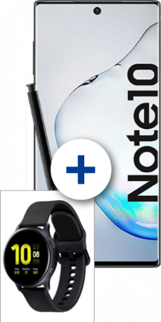 Samsung Galaxy Note10 + Galaxy Watch Active2 bei 1&1
