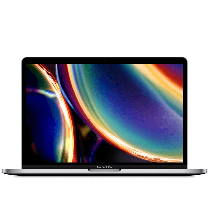 Frontansicht des Apple MacBook Pro 13 (2020) mit LTE WLAN-Router