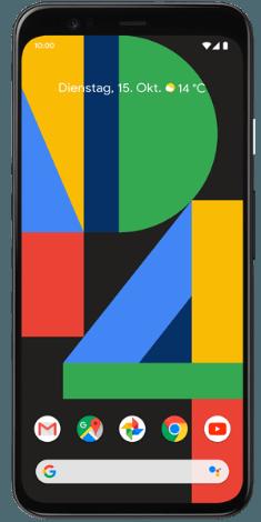 Google Pixel 4 mit 2 Google Home Mini bei 1&1