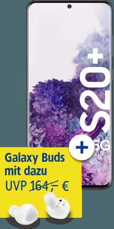 Samsung Galaxy S20+ 5G mit Galaxy Buds+ bei 1&1