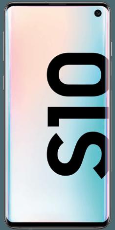 Frontansicht des Samsung Galaxy S10