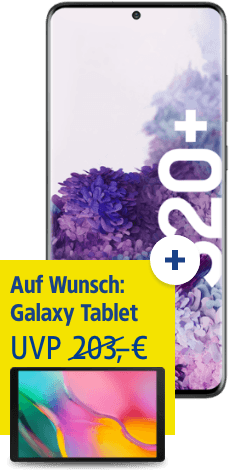 Samsung Galaxy S20+ mit Galaxy Tab A 10.1 bei 1&1