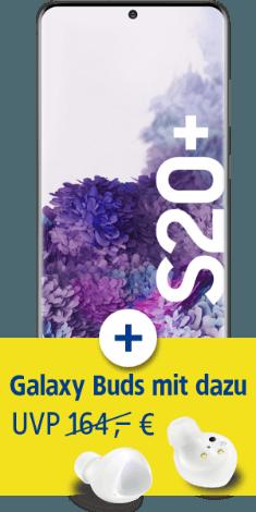 Samsung Galaxy S20+ mit Galaxy Buds+ bei 1&1