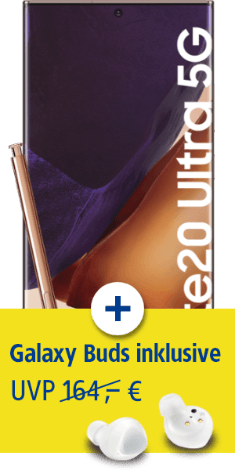 Samsung Galaxy Note20 Ultra 5G mit Samsung Galaxy Buds+ bei 1&1