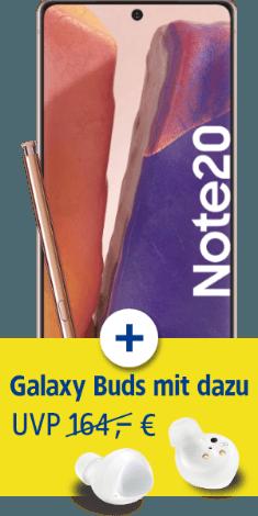 Samsung Galaxy Note20 mit Samsung Galaxy Buds+ bei 1&1